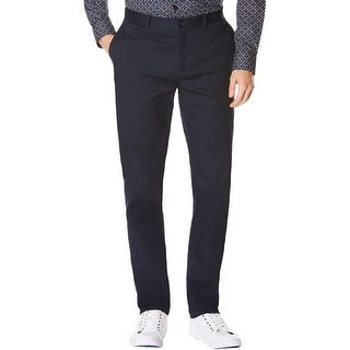 Perry Ellis Mens Dress Pants Slim Fit Corduroy