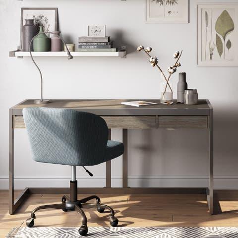 WYNDENHALL Cecilia SOLID ACACIA WOOD Modern Industrial 60 inch Wide Writing Office Desk