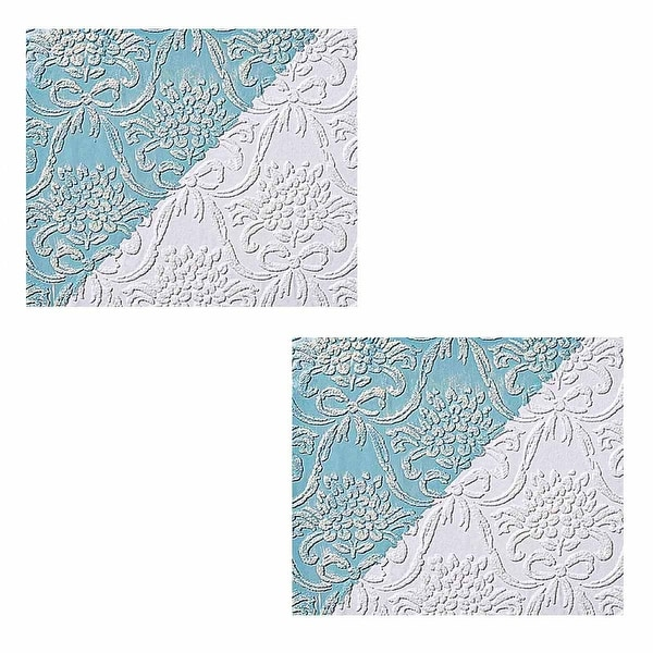2 Wallpapers White Embossed Textured Vinyl Kensington