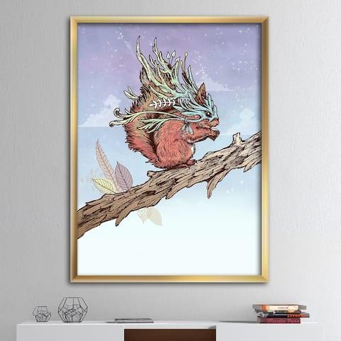 Designart 'Little Adventurer' Modern & Contemporary Premium Framed Art Print