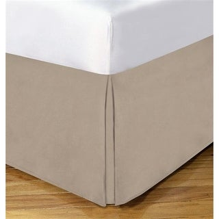 Levinsohn Basic Cotton Rich 200TC Tailored 14 in. Bed Skirt Mocha