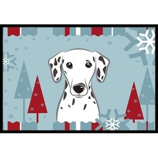 Carolines Treasures BB1706MAT Winter Holiday Dalmatian Indoor & Outdoor Mat 18 x 27 in.