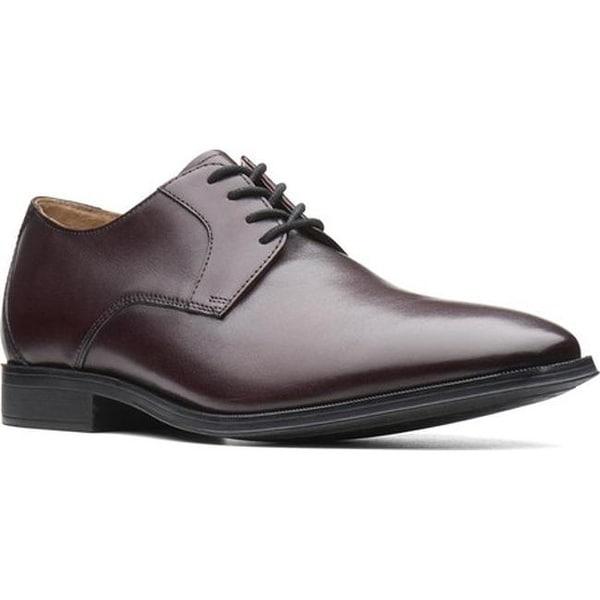 5f33665562f63 Shop Clarks Men's Gilman Lace Oxford Burgundy Full Grain Leather ...
