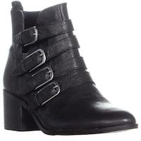 Lucky Brand Loreniah Buckle Ankle Boots, Black
