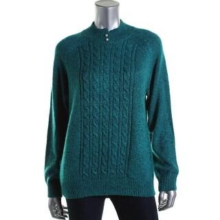 Karen Scott Womens Knit Marled Pullover Sweater - L