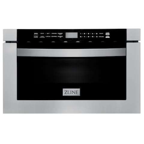 "ZLINE 24"" 1.2 cu. ft. Built-in Microwave Drawer in Stainless Steel"