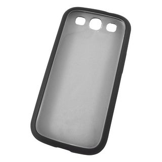 Fitted Hard Shell TPU Case for Samsung Galaxy S III (Black/Clear)