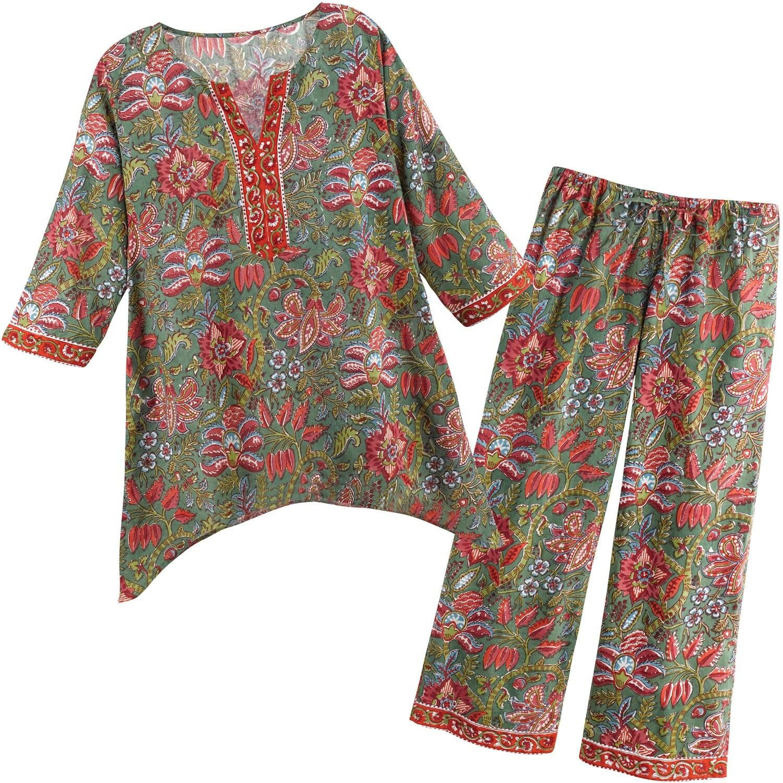 New Ladies 100/% Cotton Pyjamas Womens Floral Fleece Flannel Nightwear size 8//10