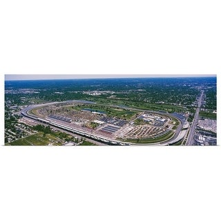 Poster Print entitled Aerial view of a city, Indianapolis Motor Speedway, Indianapolis, Indiana - Multi-color