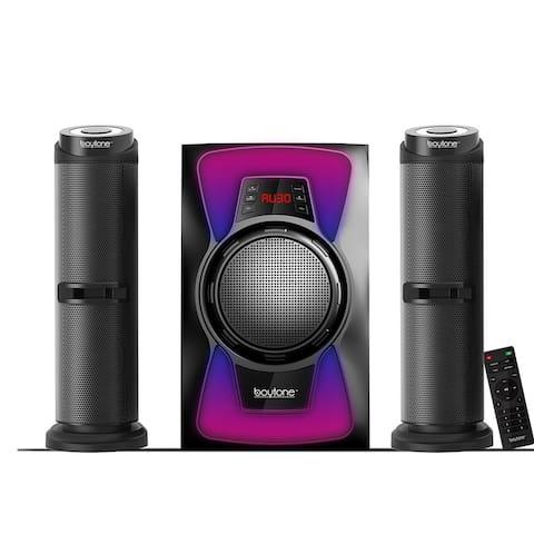 Boytone 2.1 Bluetooth Powerful Home Theater Speaker System w/ FM Radio