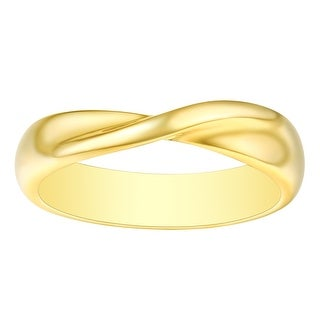 Link to Vedantti 18k Gold Stackable Mobius Round Wedding Band, 4.50mm Wide Similar Items in Rings