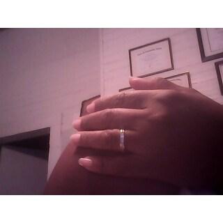Divina 10k White Gold 1ct TDW Princess Diamond Wedding Band
