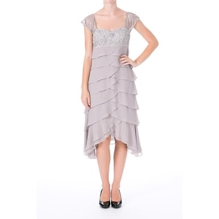 Sue Wong Womens Tiered Embellished Cocktail Dress - 2