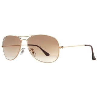RAY-BAN Aviator RB 3362 Unisex 001/51 Light Gold Brown Gradient Sunglasses - 59mm-14mm-135mm
