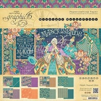 """Graphic 45 Double-Sided Paper Pad 12""""X12"""" 24/Pkg-Midnight Masquerade, 8 Designs/3 Each"""
