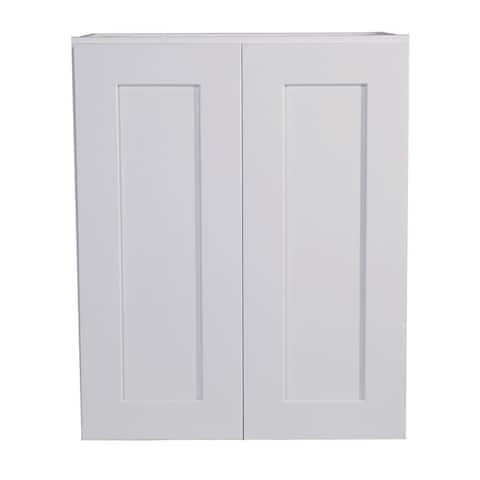"""Design House 561571 Brookings 24"""" Wide x 24"""" High Double Door Wall - White"""