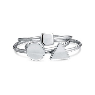 Bling Jewelry Sterling Silver Midi Ring Modern Shapes Stackable Rings Set|https://ak1.ostkcdn.com/images/products/is/images/direct/6bbc1fccf09bbf3ed8f2e4c8713b3c99360a06b4/Bling-Jewelry-Sterling-Silver-Midi-Ring-Modern-Shapes-Stackable-Rings-Set.jpg?_ostk_perf_=percv&impolicy=medium