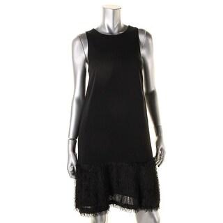 Rachel Rachel Roy Womens Fringe Keyhole Party Dress