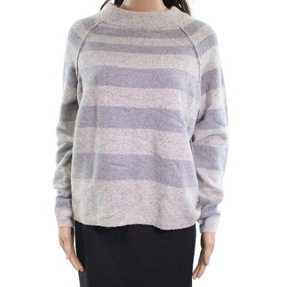 Free People NEW Gray Womens Size Small S Striped Crewneck Sweater