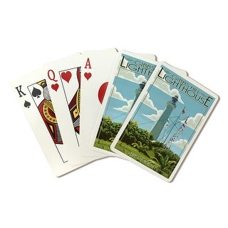 Bermuda - Gibbs Hill Lighthouse - Lantern Press Artwork (Playing Card Deck - 52 Card Poker Size with Jokers)