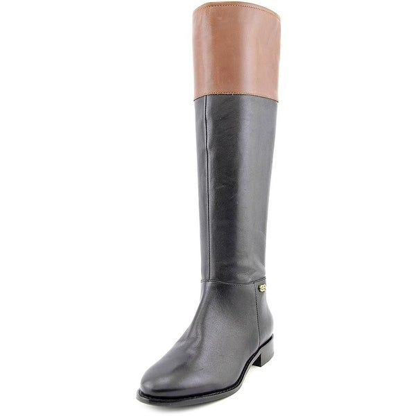 Cole Haan Womens Primrose Leather Almond Toe Knee High Riding Boots