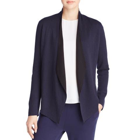 Eileen Fisher Womens Cardigan Top Layered Long Sleeve