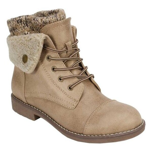 243e58fe94f Shop Cliffs by White Mountain Women's Duena Lace Up Boot Natural ...