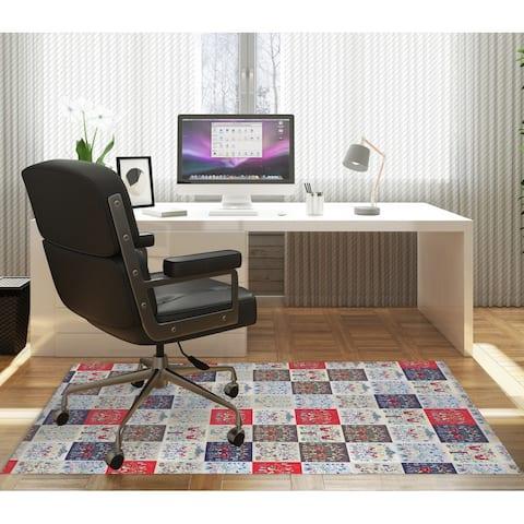 SCANDINAVIAN PATCHWORK Office Mat By Kavka Designs