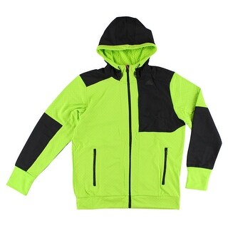 Adidas Mens Climaheat Hydro Hoodie Bright Green - bright green/black