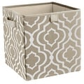ClosetMaid 16088 2 - Handle Fabric Storage Bin, Gray Stone, Polyester - Thumbnail 0