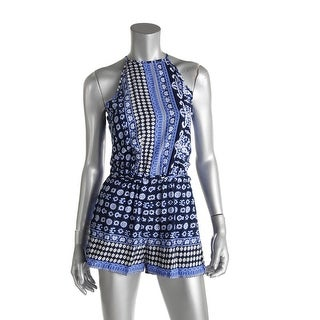 Choies Womens Romper Printed Sleeveless - s