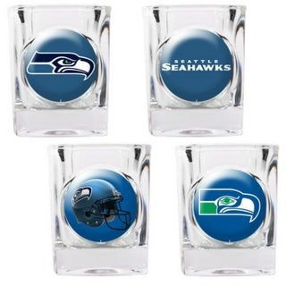 Great American Products Seattle Seahawks Shot Glass Set 4pc Collectors Shot Glass Set
