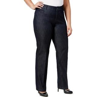 Lee Platinum Label Womens Plus Dress Pants Denim Eased Fit