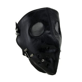 Black Full Face Spike Studded Facemask