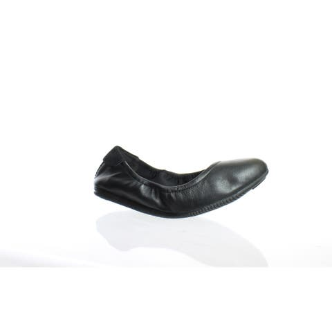 Cole Haan Womens Studiogrand Black Leather Ballet Flats Size 5