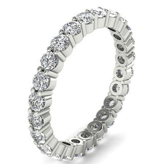 1 25 CT Shared Prong Round Cut Diamond Eternity Wedding Band In 14KT