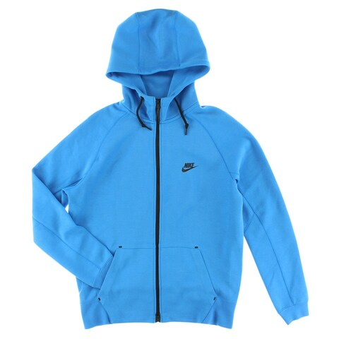 Nike Mens Tech Fleece Full Zip Hoodie Blue - Blue/Black - XxL