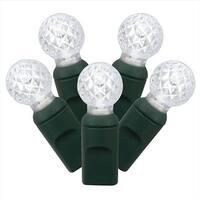 Cool White Commercial Grade LED G12 Berry Christmas Lights - Green