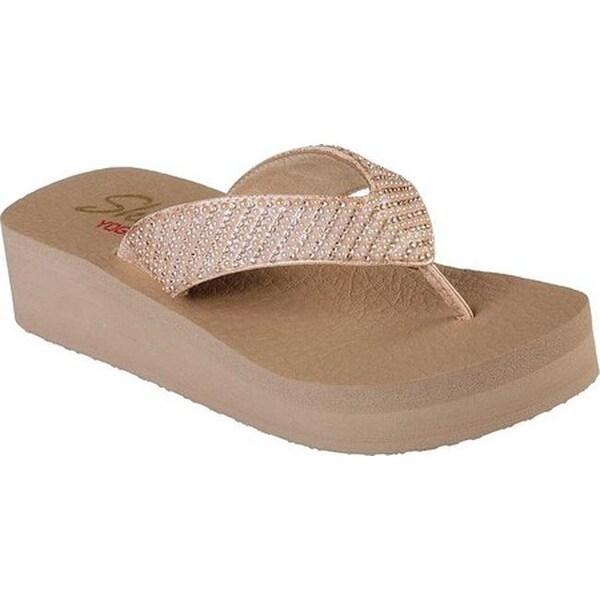 b02b75554474 Shop Skechers Women s Vinyasa Platform Thong Sandal Rose Gold - Free ...