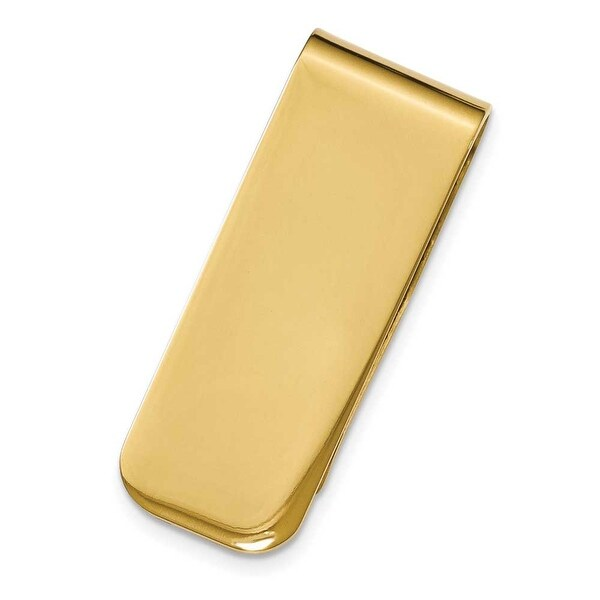 Chisel Gold Plated Polished Stainless Steel Money Clip