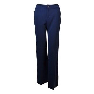 Lauren Ralph Lauren Women's Side Pocket Wide Leg Pants