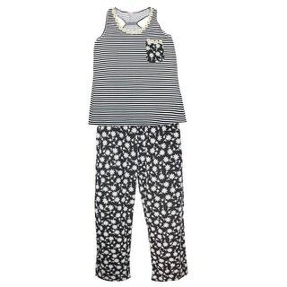 CTM® Women's Plus Size Tank and Pant Pajama Set - Pink - 1X