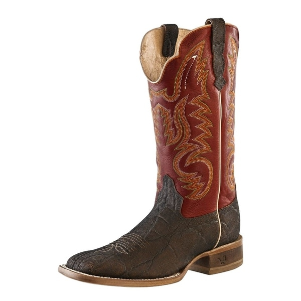 Outlaw Western Boots Mens Stitching Broad Square Toe Brandy Red