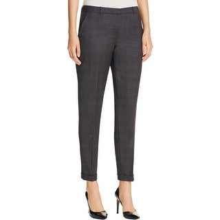 BOSS Hugo Boss Womens Trouser Pants Stretch Plaid - 4