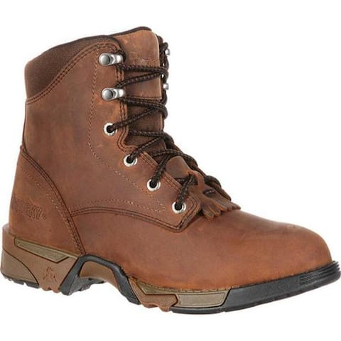 Rocky Women's Lace-Up Aztec Steel Toe RKK0138 Brown Leather Nylon
