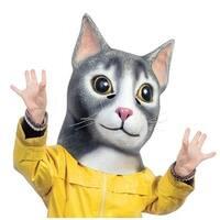 Cat Adult Latex Costume Mask - Multi