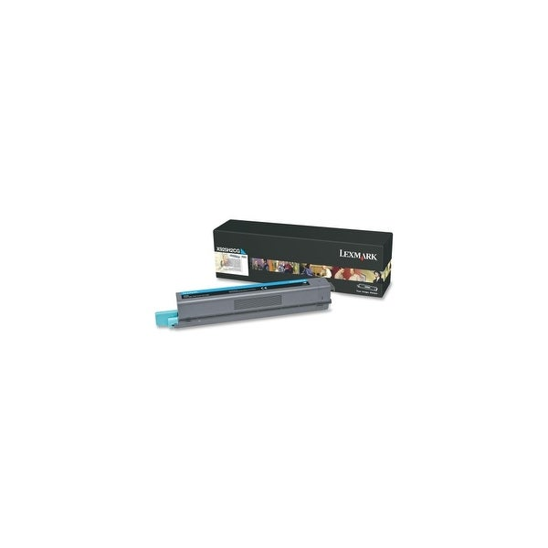 Lexmark X925H2CG Lexmark X925H2CG High Yield Toner Cartridge - Cyan - Laser - 7500 Page - 1 Each