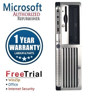 Refurbished HP Compaq DC7700 Small Form Factor Core 2 Duo E6300 1.86G 2G DDR2 80G DVD WIN 10 Pro 64 1 Year Warranty - Silver