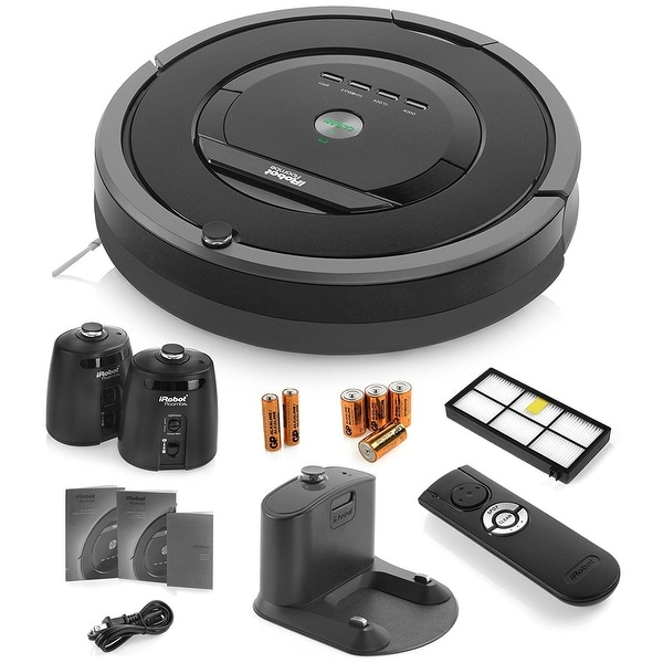 iRobot Roomba 880 Vacuum Cleaning Robot + 2 Virtual Wall Lighthouses + Remote Control + Extra High Efficiency Filter + More