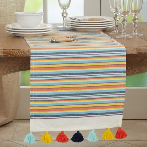 Fiesta Table Runner With Striped Design